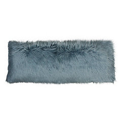 Blue Mongolian Fur Body Pillow
