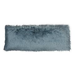 Blue Mongolian Fur Body Pillow