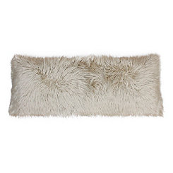 Oatmeal Mongolian Fur Body Pillow