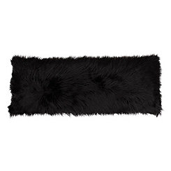 Black Mongolian Fur Body Pillow