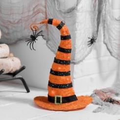 Orange Pre-Lit Sisal Witch Hat