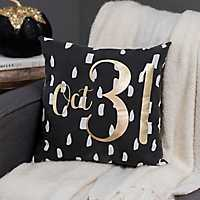October 31st Halloween Pillow