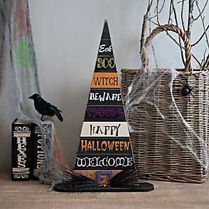 Halloween Typography Witch Hat