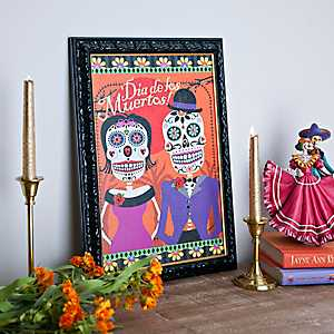 Day of the Dead Sugar Skull Framed Print