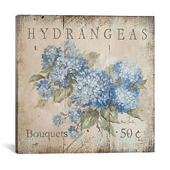 Hydrangeas Bouquets Canvas Art Print