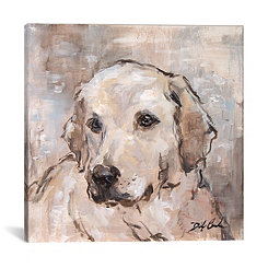 Lovely Lab Canvas Art Print
