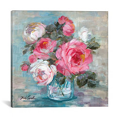 Summer Roses II Canvas Art Print