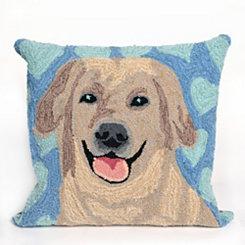 Blue Dog Love Pillow