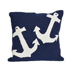 Navy Anchor Pillow