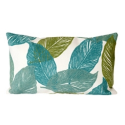 Blue Tabitha Leaf Accent Pillow