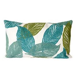 Blue Tabitha Leaf Accent Pillow