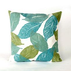 Blue Tabitha Leaf Pillow