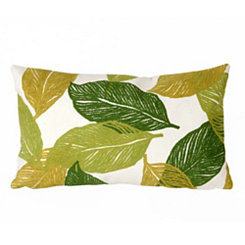 Green Tabitha Leaf Accent Pillow
