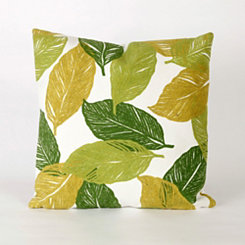 Green Tabitha Leaf Pillow