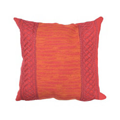 Red Embellished Border Pillow