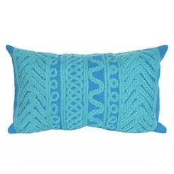 Blue Ornamental Stripe Accent Pillow