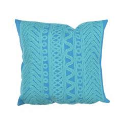 Blue Ornamental Stripe Pillow