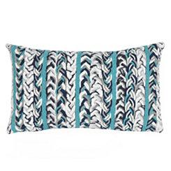 Blue Knit Stripe Accent Pillow
