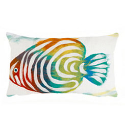 Colorful Fish Accent Pillow