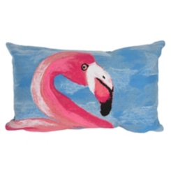 Blue Flamingo Accent Pillow