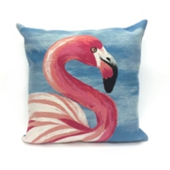 Blue Flamingo Pillow