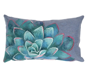 Navy Magnificent Bloom Accent Pillow