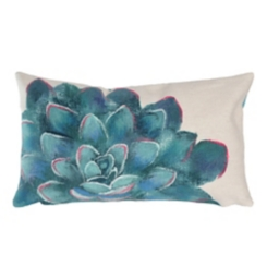 Ivory Magnificent Bloom Accent Pillow