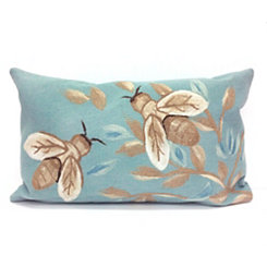 Blue Bee Accent Pillow