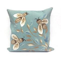 Blue Bee Pillow