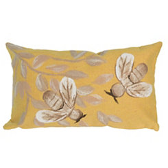 Yellow Bee Accent Pillow