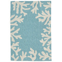 Blue Livia Ocean Reef Outdoor Mat