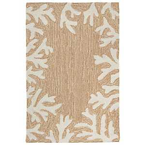 Tan Livia Ocean Reef Outdoor Mat