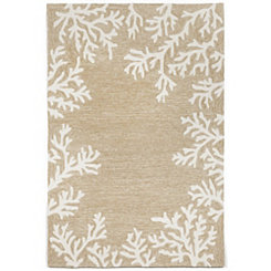 Tan Livia Ocean Reef Outdoor Area Rug, 5x8
