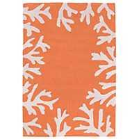 Orange Livia Ocean Reef Outdoor Mat