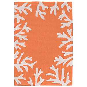 Orange Livia Ocean Reef Outdoor Mat