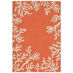 Orange Livia Ocean Reef Outdoor Area Rug, 5x8