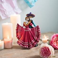 Dancing Sugar Skull Couple Figurine