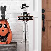 Trick or Treat Skeleton Yard Stake