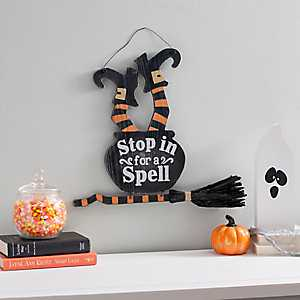 Stop in for a Spell Hanging Sign