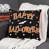 Reversible Halloween Bats Pillow