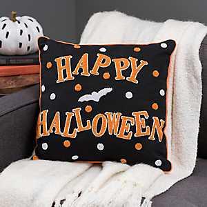 Reversible Halloween Bats Pillow