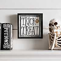 Trick or Treat Framed Word Block