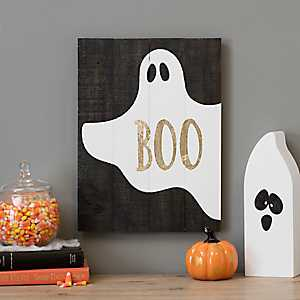 Halloween Boo Wood Pallet Art