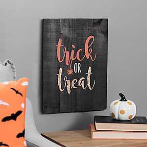 Trick or Treat Wood Pallet Art