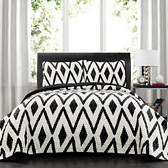 Tanna Diamond 3-pc. Full/Queen Quilt Set