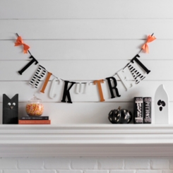 Halloween Trick or Treat Letter Banner