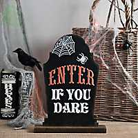 Enter If You Dare Tabletop Tombstone