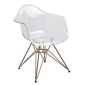 Clear and Gold Mod Arm Chair