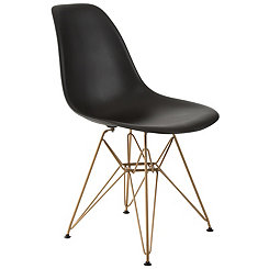 Black and Gold Mod Accent Chair