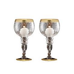 Buckingham Gold Candle Holders, Set of 2